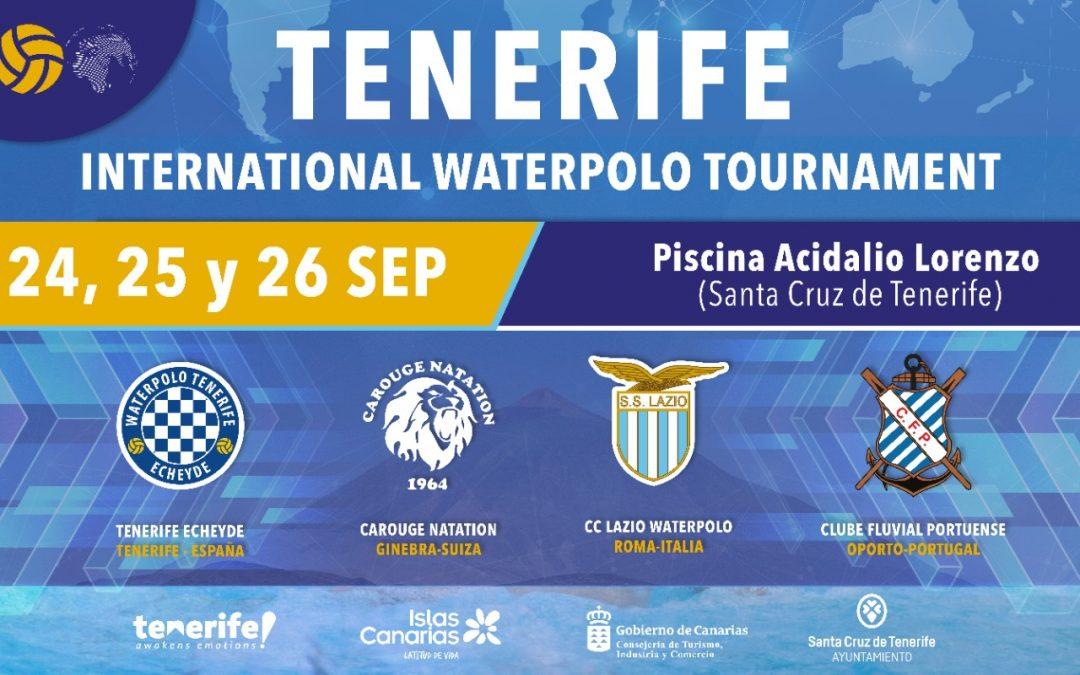 El Tenerife Echeyde organiza el II Torneo Internacional de waterpolo del 24 al 26 de septiembre en la Acidalio
